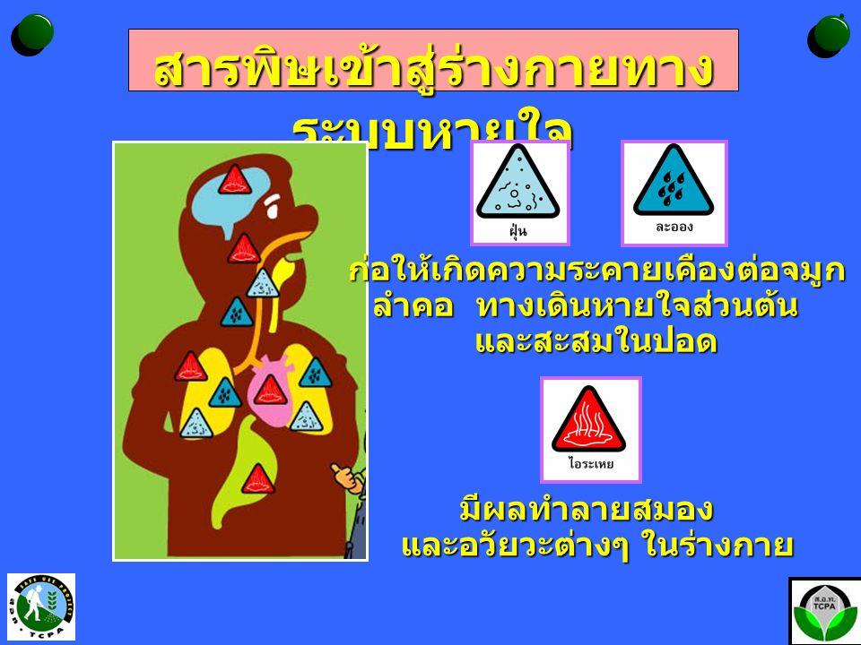 สารพิษเข้าสู่ร่างกายทางระบบหายใจ