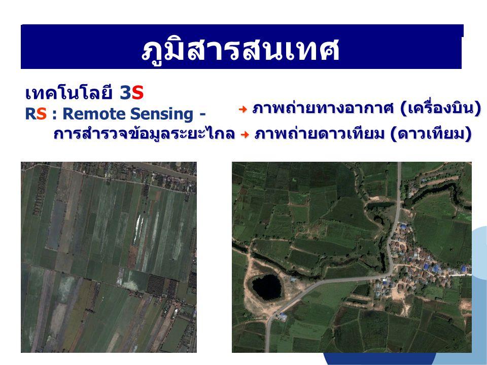 ภูมิสารสนเทศ เทคโนโลยี 3S RS : Remote Sensing -