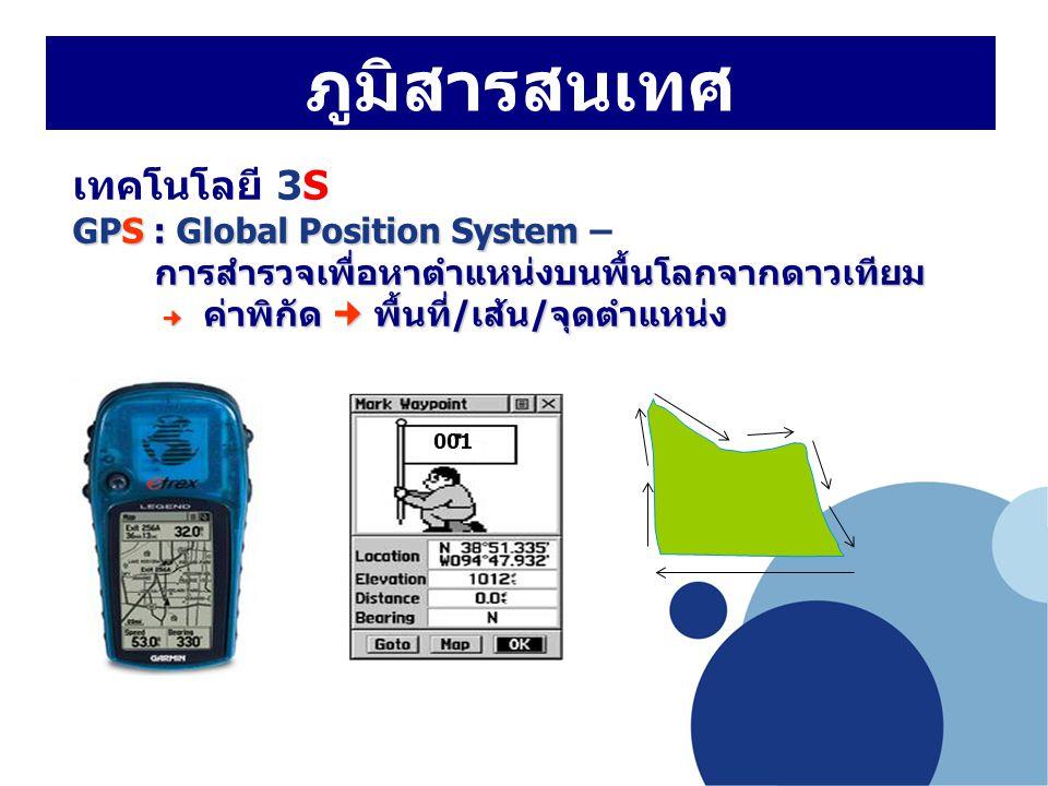 ภูมิสารสนเทศ เทคโนโลยี 3S