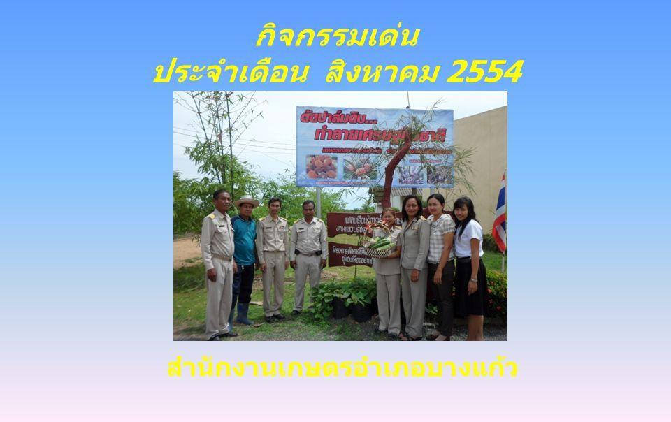 กิจกรรมเด่น ประจำเดือน สิงหาคม 2554