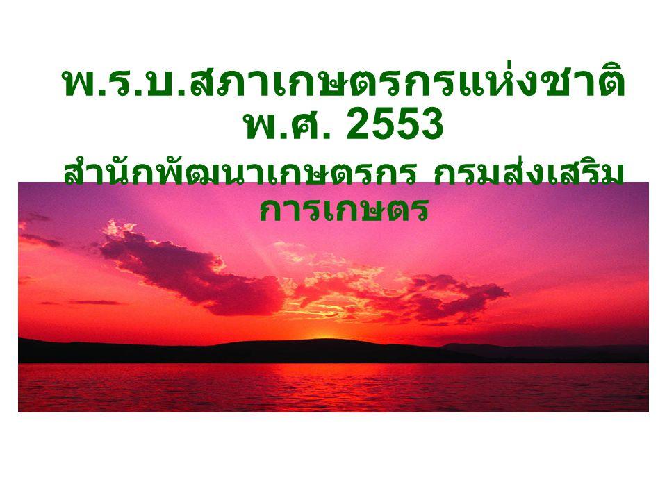 พ.ร.บ.สภาเกษตรกรแห่งชาติ พ.ศ. 2553