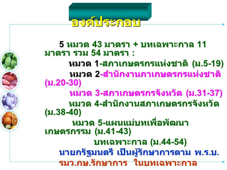 องค์ประกอบ หมวด 1-สภาเกษตรกรแห่งชาติ (ม.5-19)