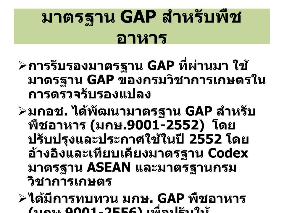 มาตรฐาน GAP สำหรับพืชอาหาร