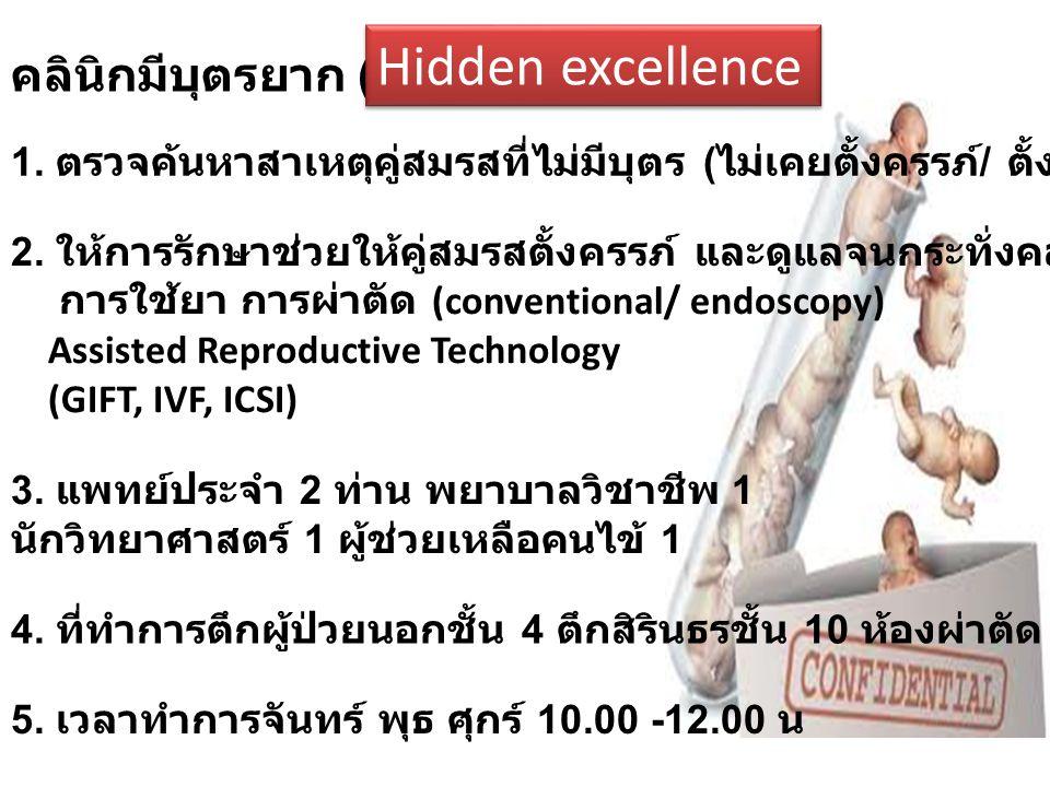 Hidden excellence คลินิกมีบุตรยาก (2548)