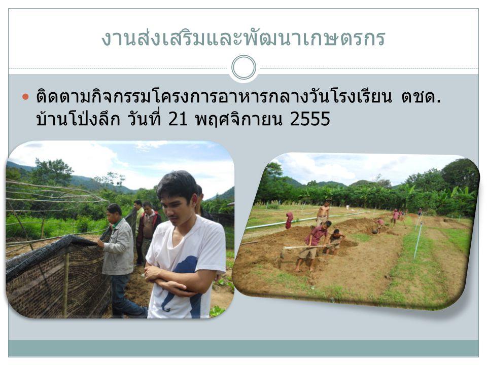 งานส่งเสริมและพัฒนาเกษตรกร