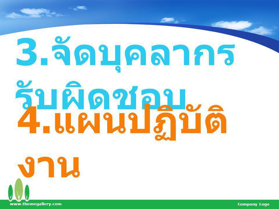 3.จัดบุคลากรรับผิดชอบ 4.แผนปฏิบัติงาน www.themegallery.com
