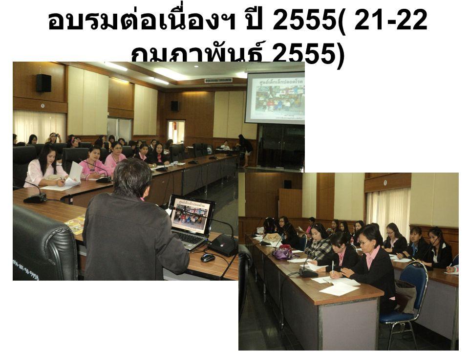 อบรมต่อเนื่องฯ ปี 2555( 21-22 กุมภาพันธ์ 2555)