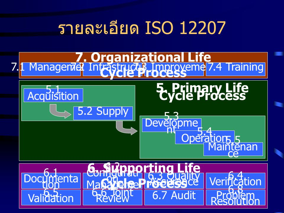 รายละเอียด ISO 12207 7. Organizational Life Cycle Process