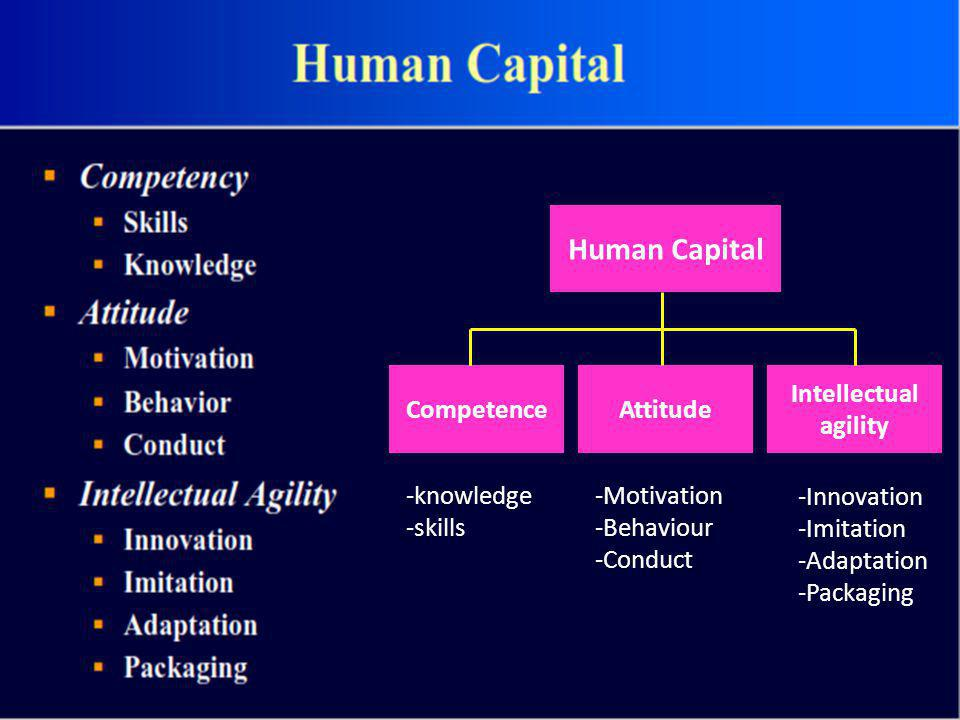 Human Capital Competence Attitude Intellectual agility -knowledge