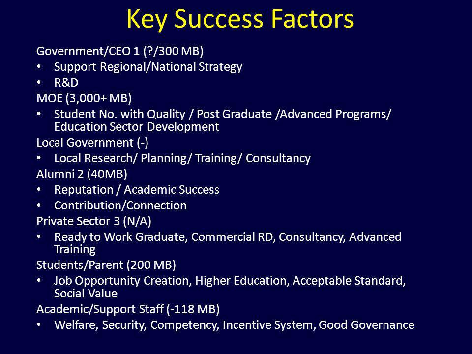 Key Success Factors Government/CEO 1 ( /300 MB)