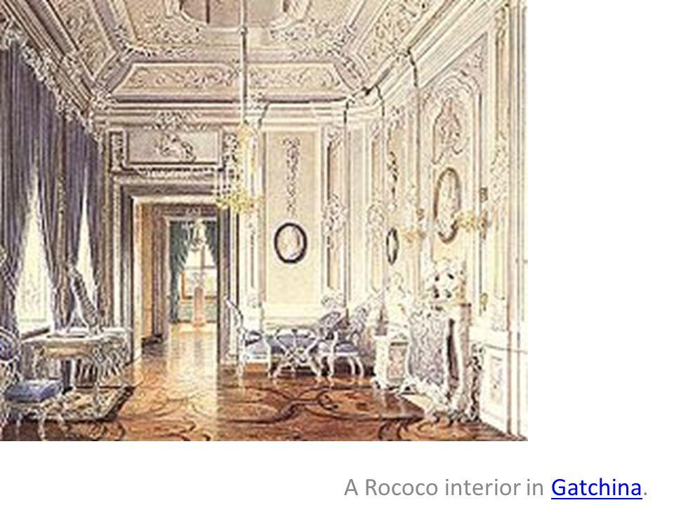 A Rococo interior in Gatchina.
