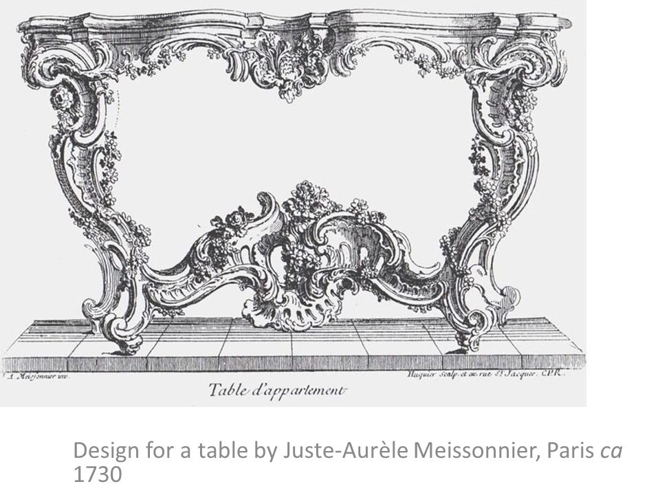 Design for a table by Juste-Aurèle Meissonnier, Paris ca 1730