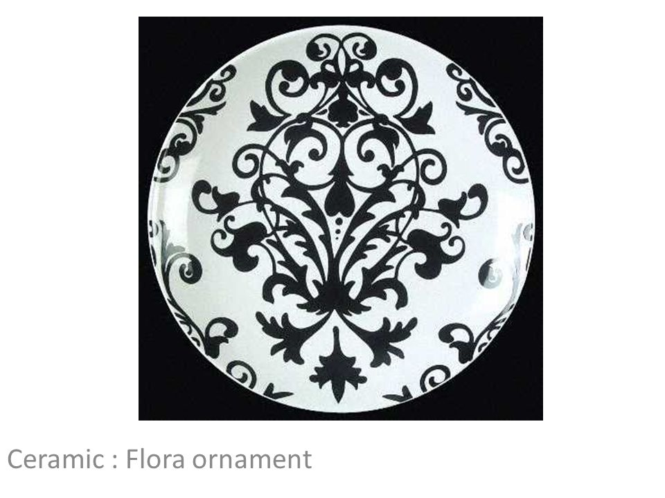 Ceramic : Flora ornament