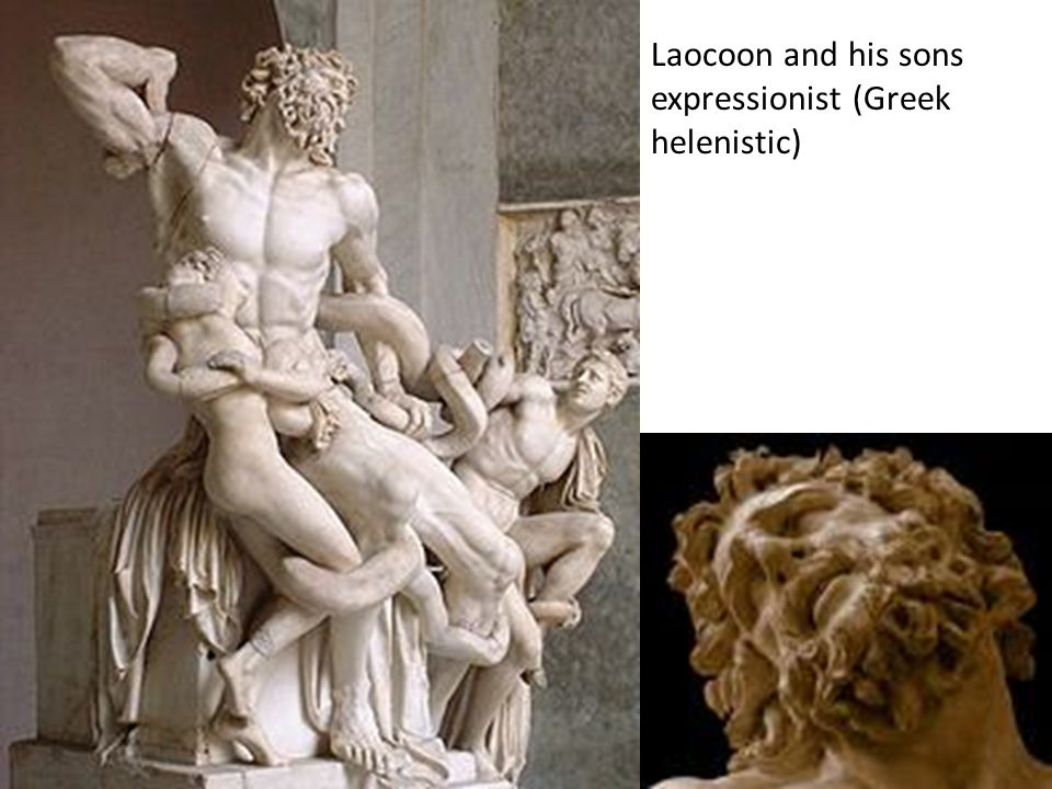 Laocoon and his sons expressionist (Greek helenistic)