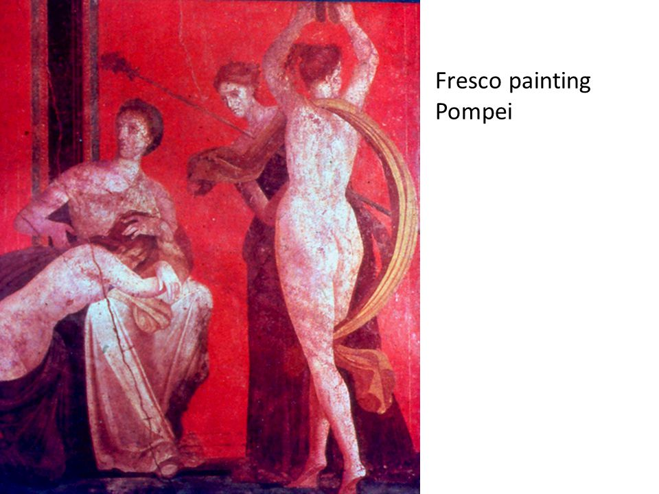 Fresco painting Pompei