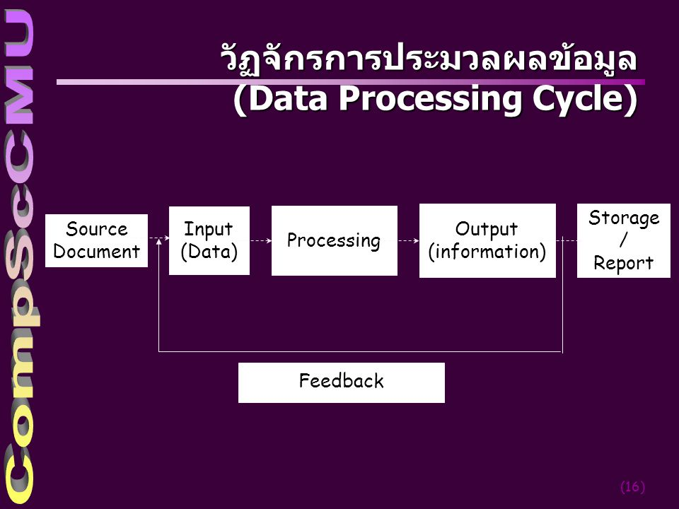 วัฏจักรการประมวลผลข้อมูล (Data Processing Cycle)