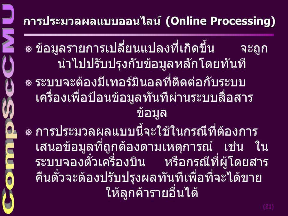 การประมวลผลแบบออนไลน์ (Online Processing)