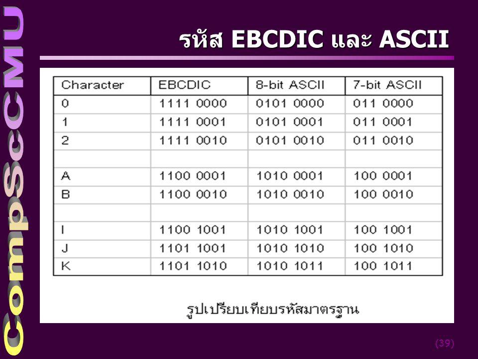 รหัส EBCDIC และ ASCII