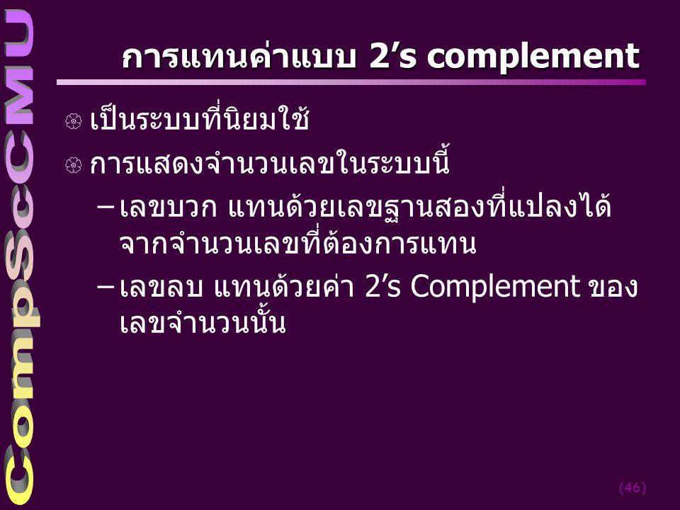 การแทนค่าแบบ 2's complement
