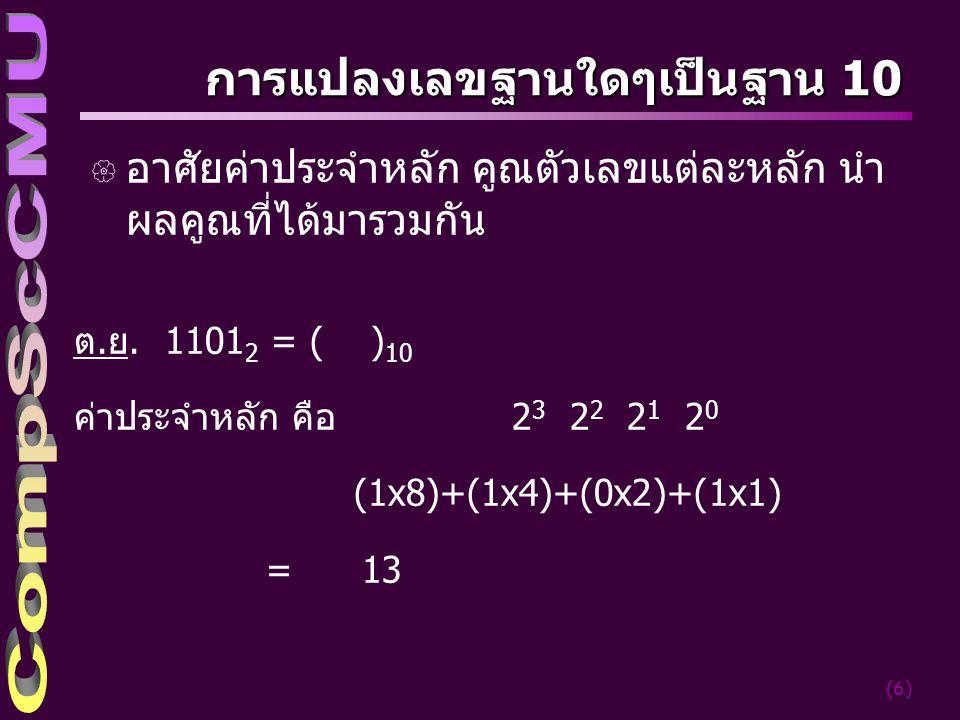 การแปลงเลขฐานใดๆเป็นฐาน 10