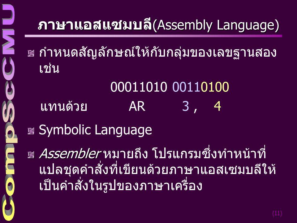 ภาษาแอสแซมบลี(Assembly Language)