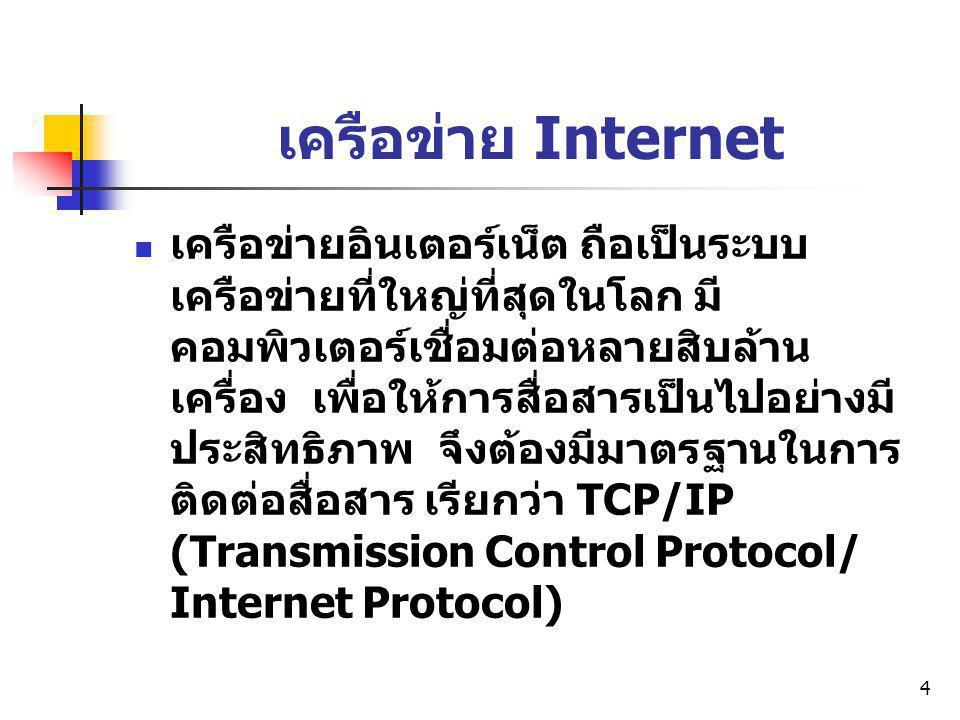 เครือข่าย Internet