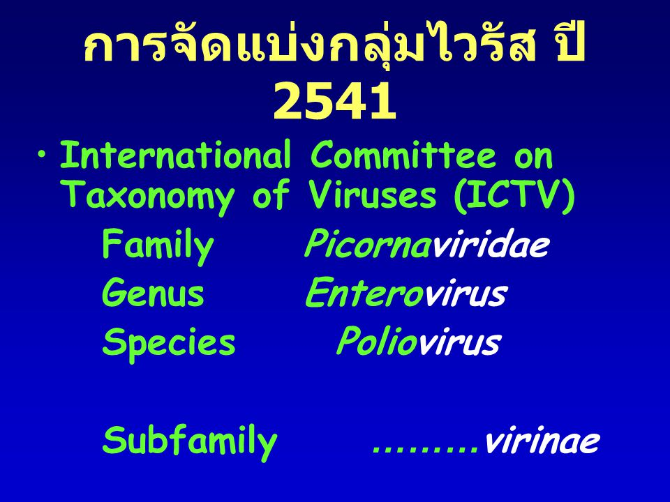 การจัดแบ่งกลุ่มไวรัส ปี 2541