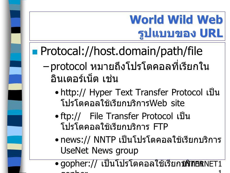 World Wild Web รูปแบบของ URL