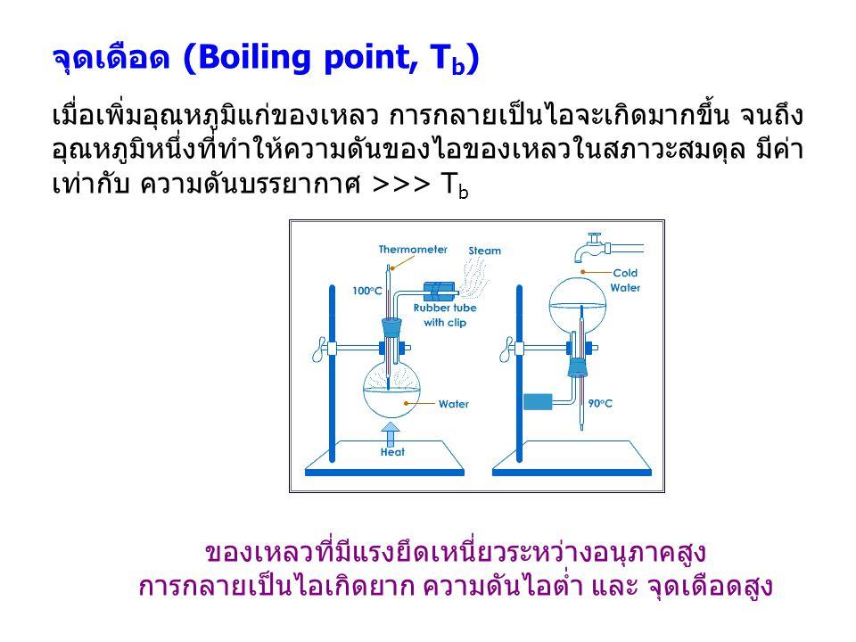 จุดเดือด (Boiling point, Tb)