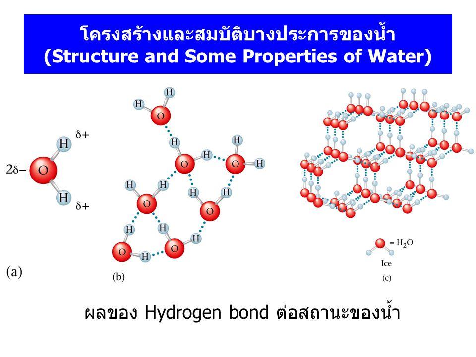 โครงสร้างและสมบัติบางประการของน้ำ (Structure and Some Properties of Water)