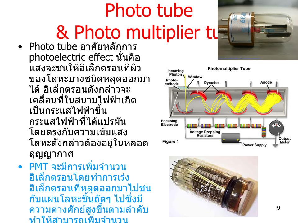 Photo tube & Photo multiplier tube