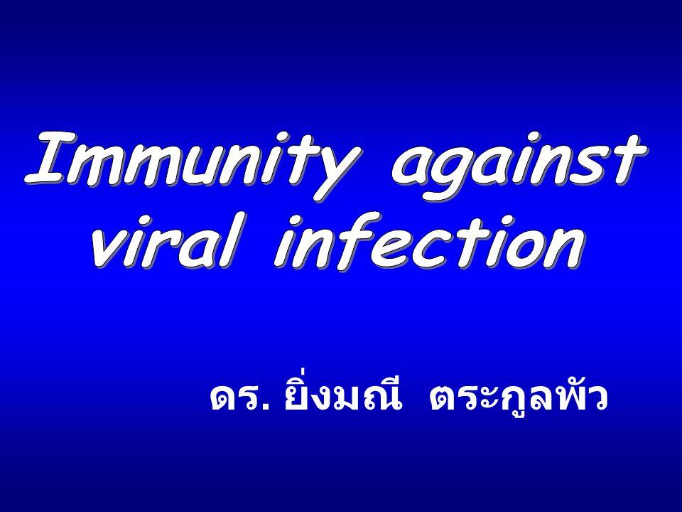 Immunity against viral infection ดร. ยิ่งมณี ตระกูลพัว