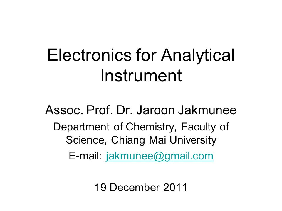 Electronics for Analytical Instrument