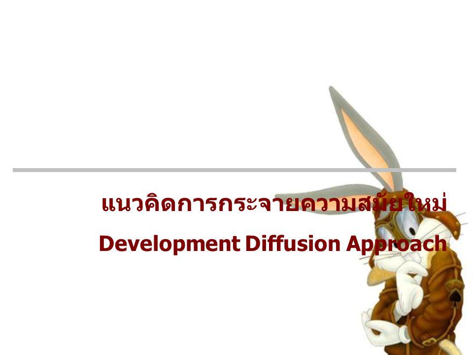 แนวคิดการกระจายความสมัยใหม่ Development Diffusion Approach