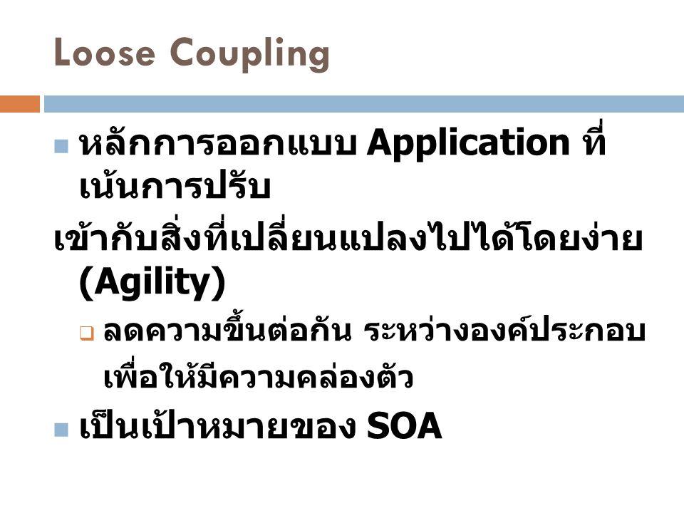 Loose Coupling หลักการออกแบบ Application ที่เน้นการปรับ