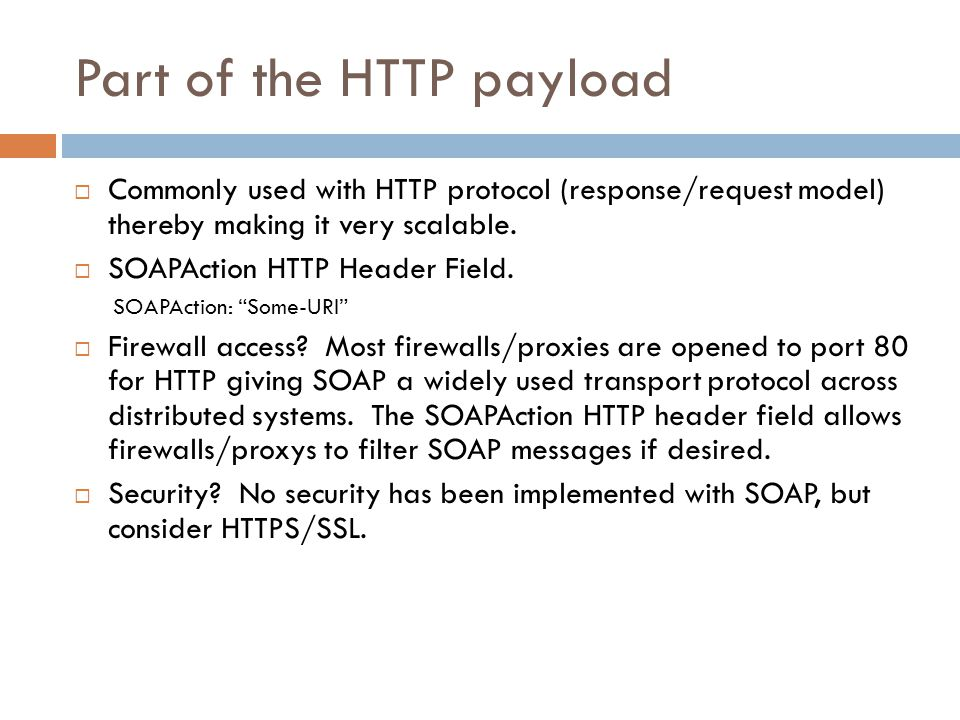 Part of the HTTP payload