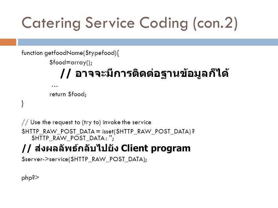 Catering Service Coding (con.2)