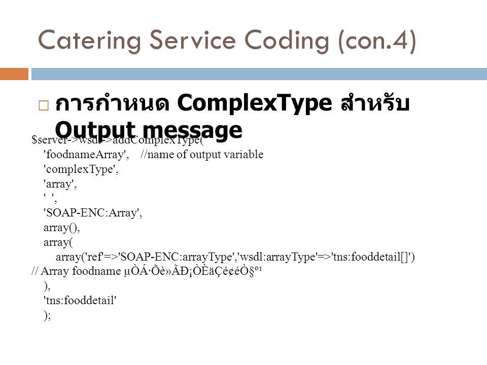 Catering Service Coding (con.4)