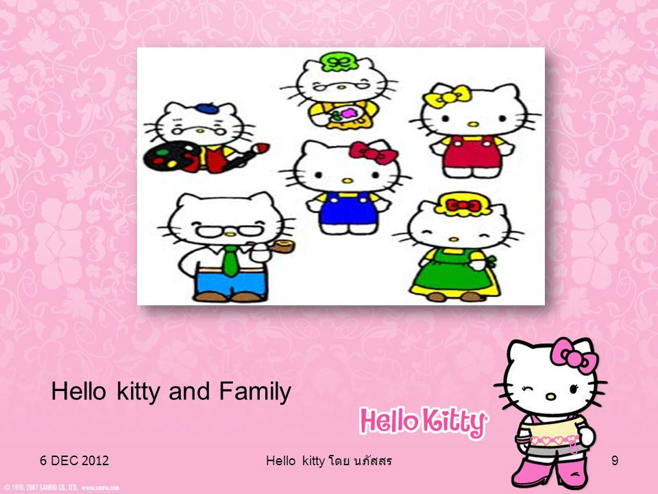 Hello kitty and Family 6 DEC 2012 Hello kitty โดย นภัสสร