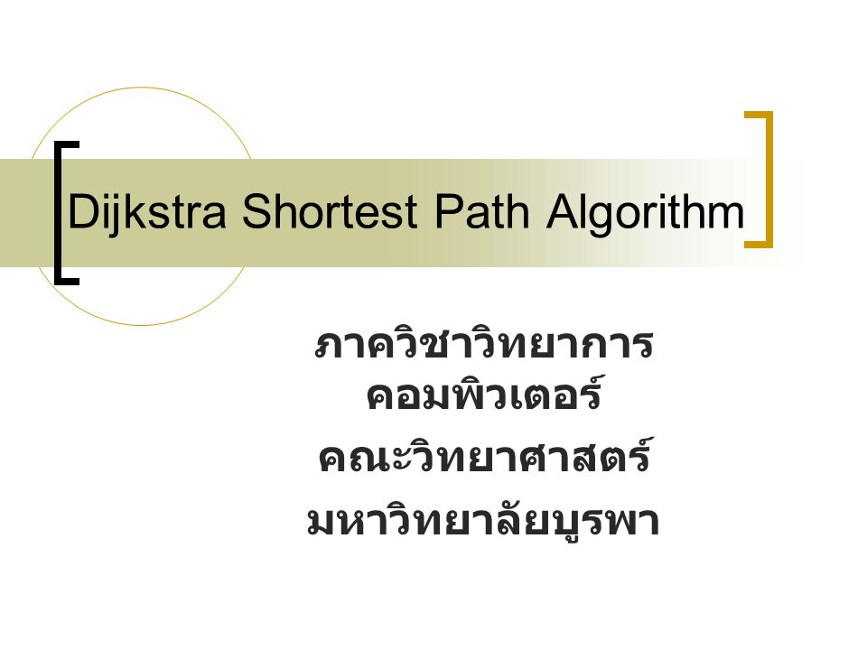 Dijkstra Shortest Path Algorithm