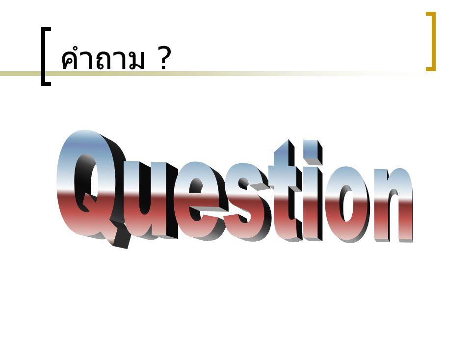 คำถาม Question