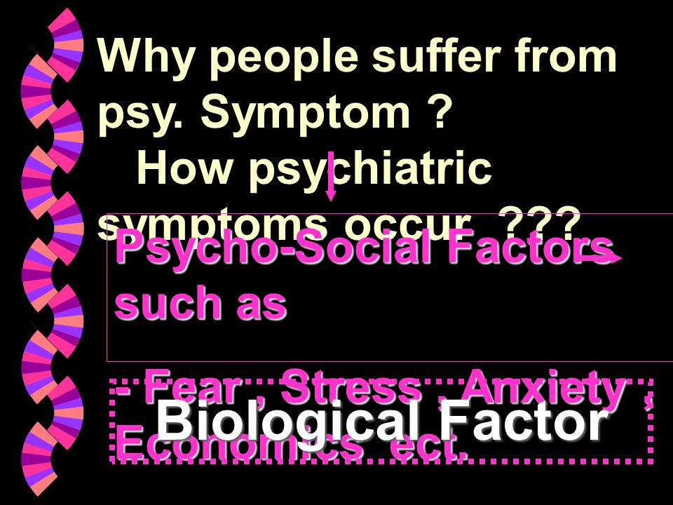 Why people suffer from psy. Symptom How psychiatric symptoms occur