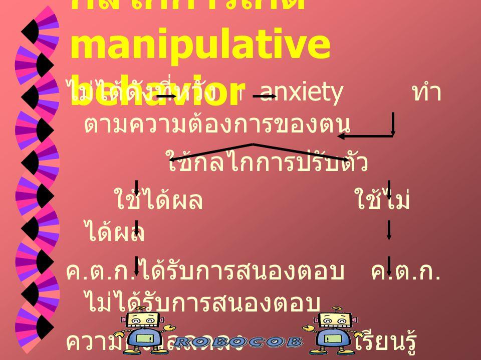 กลไกการเกิด manipulative behavior