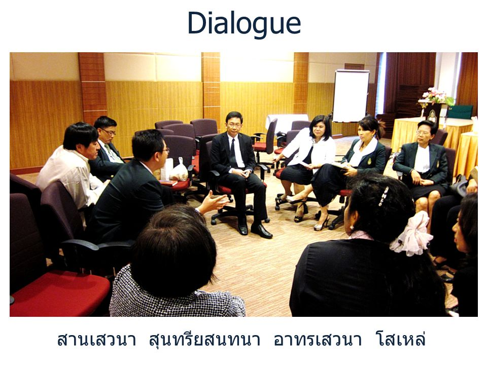 Dialogue สานเสวนา สุนทรียสนทนา อาทรเสวนา โสเหล่