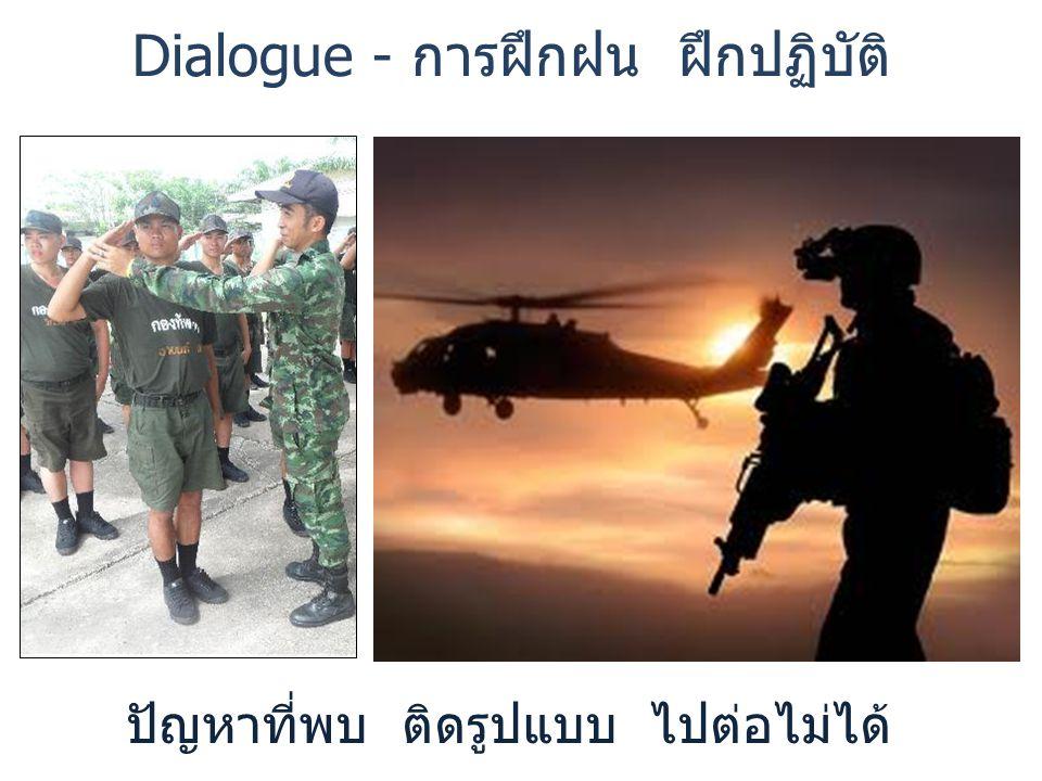 Dialogue - การฝึกฝน ฝึกปฏิบัติ