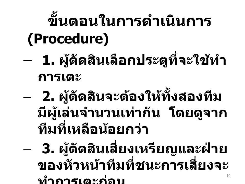 ขั้นตอนในการดำเนินการ (Procedure)