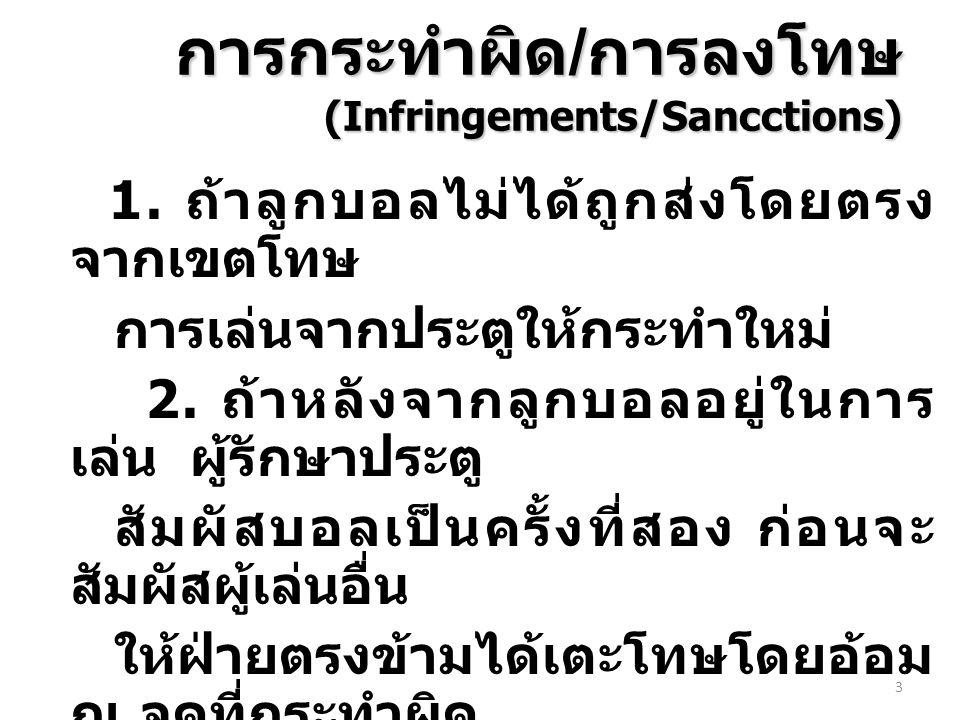 การกระทำผิด/การลงโทษ (Infringements/Sancctions)