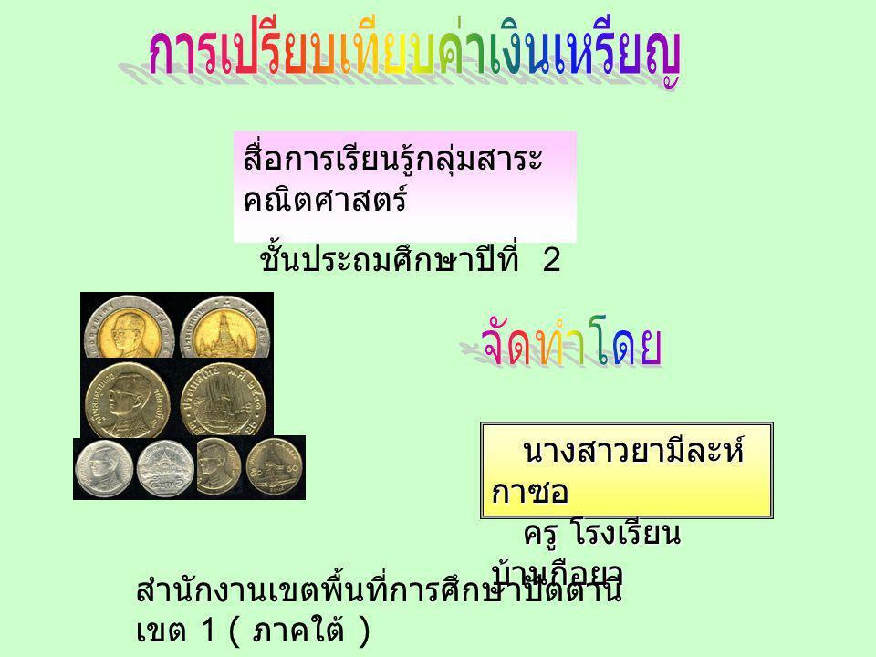 การเปรียบเทียบค่าเงินเหรียญ