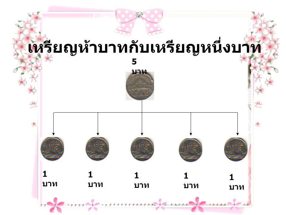เหรียญห้าบาทกับเหรียญหนึ่งบาท