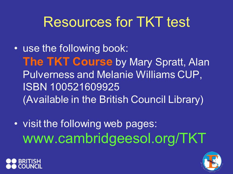Resources for TKT test